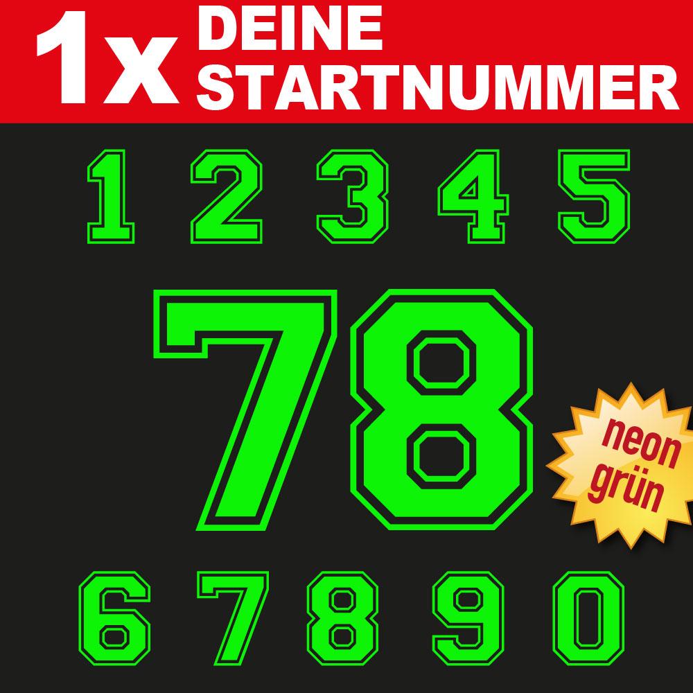 BMX Bike Startnummern in neongrün
