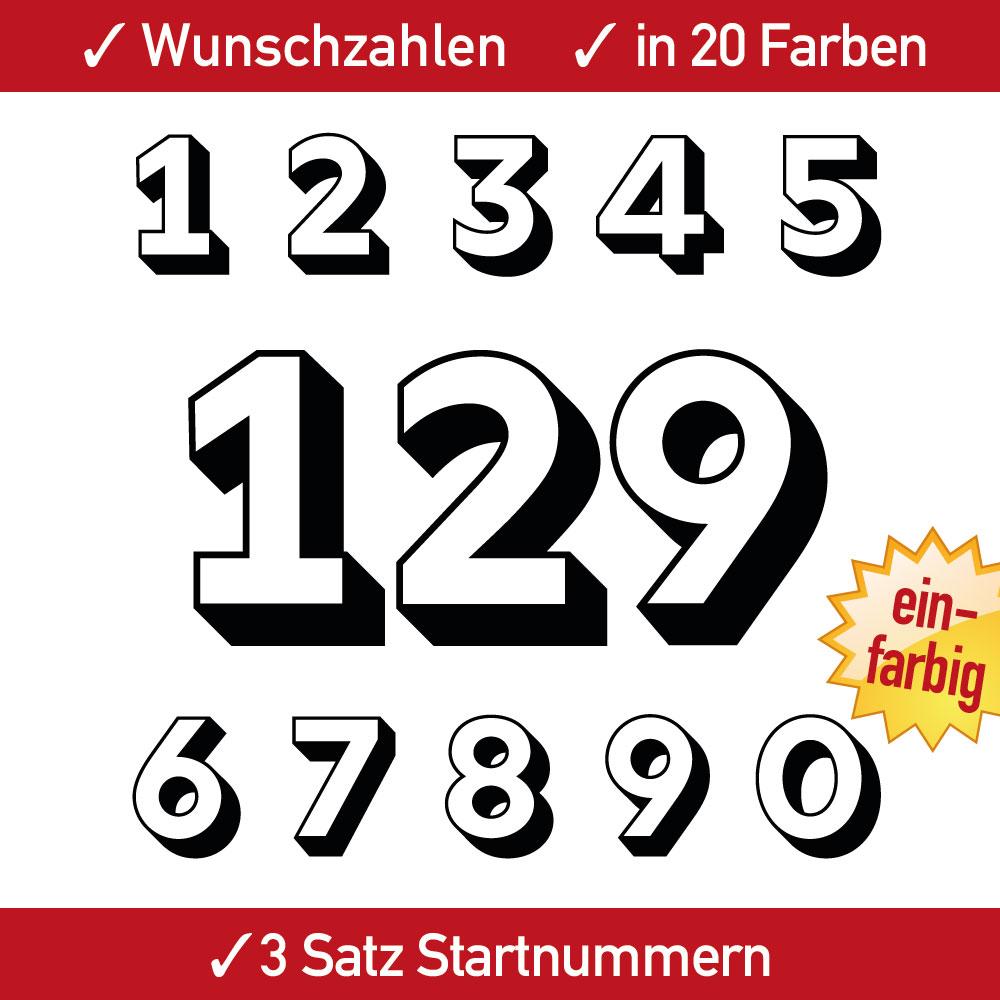 Chrom Startnummer für Motorrad