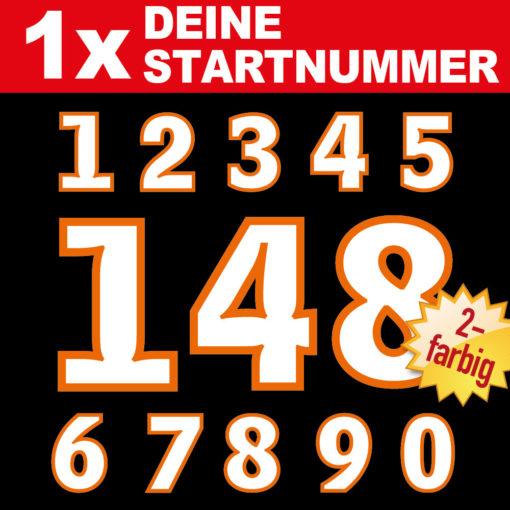 Startnummern Zahlen für Classic Bikes