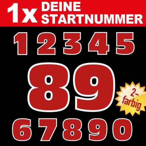 Zweifarbige Startnummern Aufkleber in vielen Größen und Farben