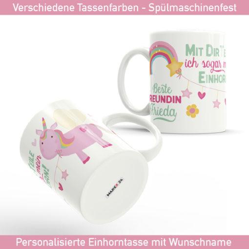 Einhorn Foto Tasse mit Spruch