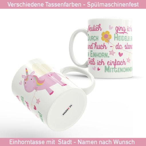 Einhorn Spruch Tasse mit süßem Einhorn Motiv