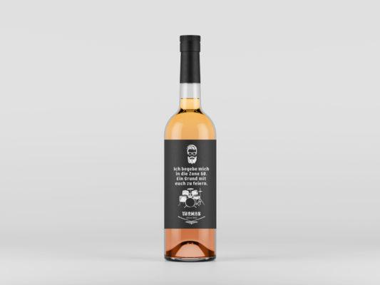Gestaltung Etikett für Weinflasche