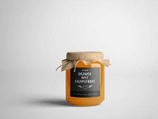 Gestaltung von Etiketten für Marmelade