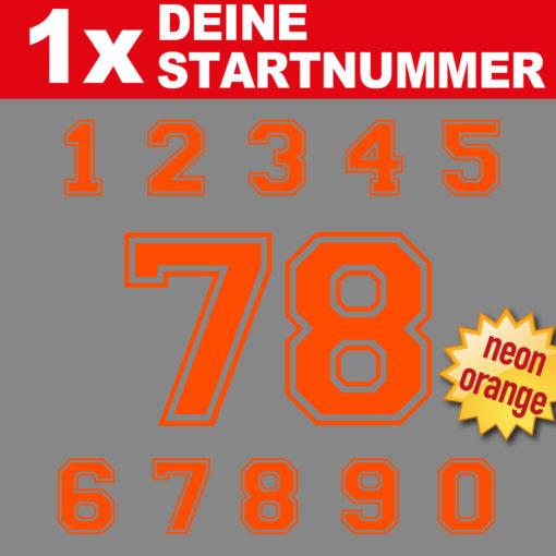 Fahrrad Startnummern in neonorange