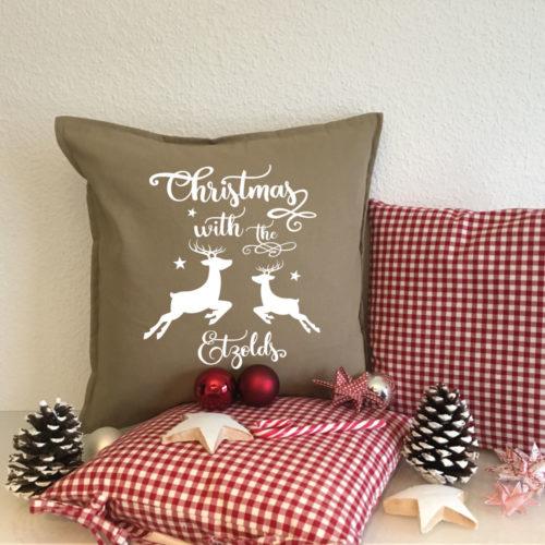Dekorration für Weihnachten in Kreise der Familie