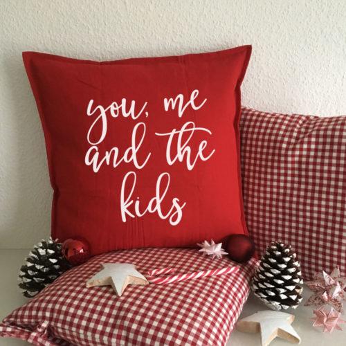 Traumhafte Kissen als Familie Kinder Geschenke