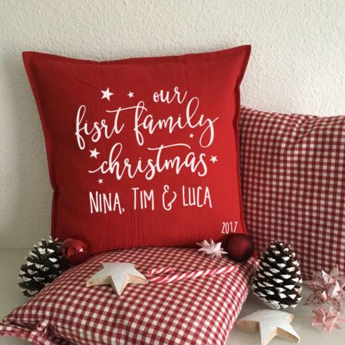 Family Christmas mit einem personalisiertem Geschenk