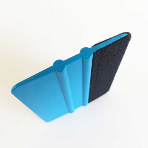 Filzrakel Farbe blau