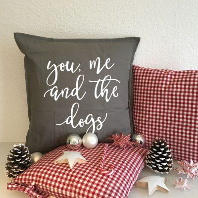 Kissen Geschenk Weihnachten Hund
