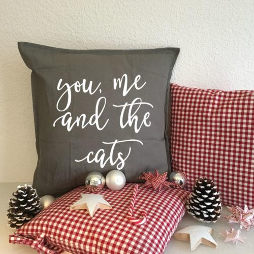 Kissen Geschenk Weihnachten Katze