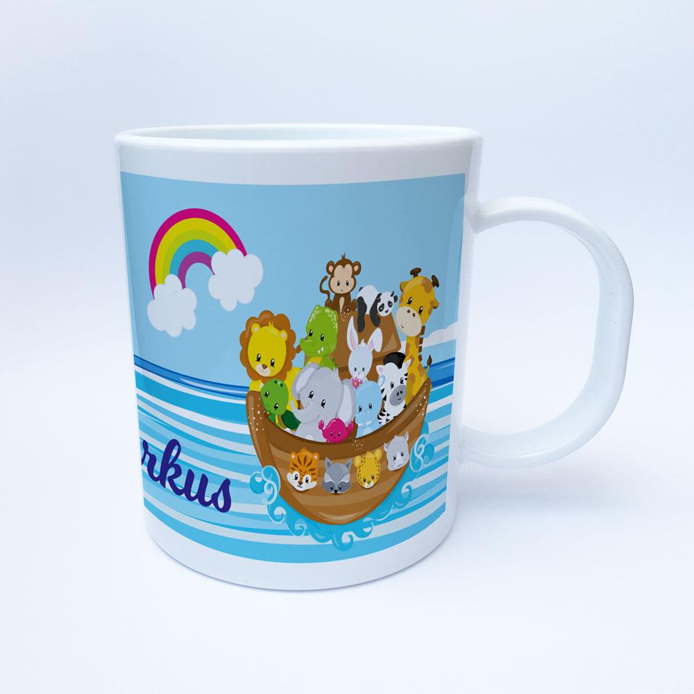 Geschenk Zur Taufe Kunststoff Kinder Tasse Für Jungen Und Mädchen