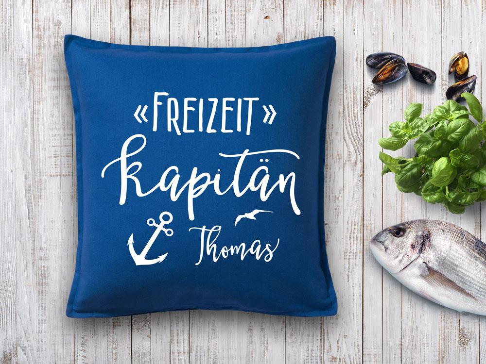 Kissen Geschenk Freizeit Kapitän