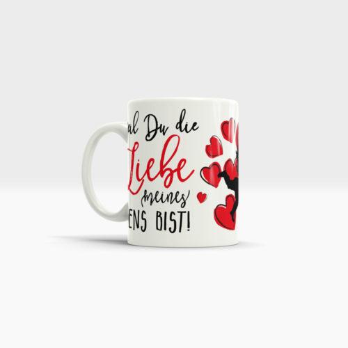 Geschenke Traumfrau Tasse mit roten Herzen