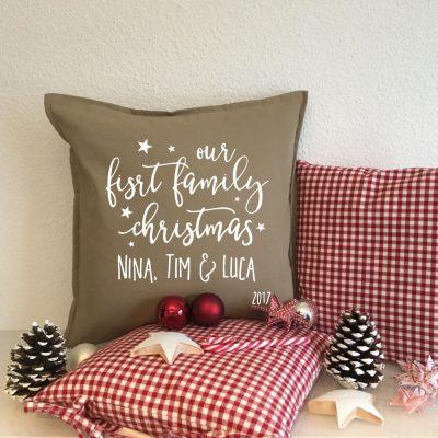 Bedrucke Kissen - Geschenkidee Weihnachten Familie