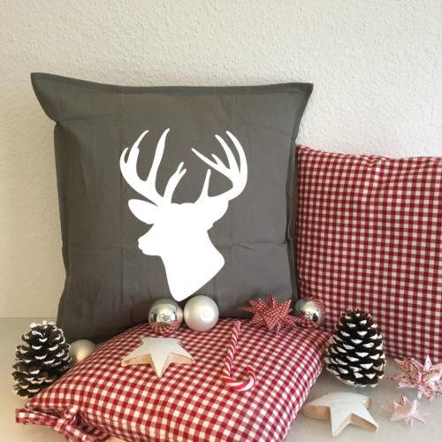 Dekorative Geschenkidee bedruckte Weihnachtskissen