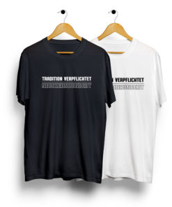 Möchen Gladbach Fan T-Shirt schwarz weiss