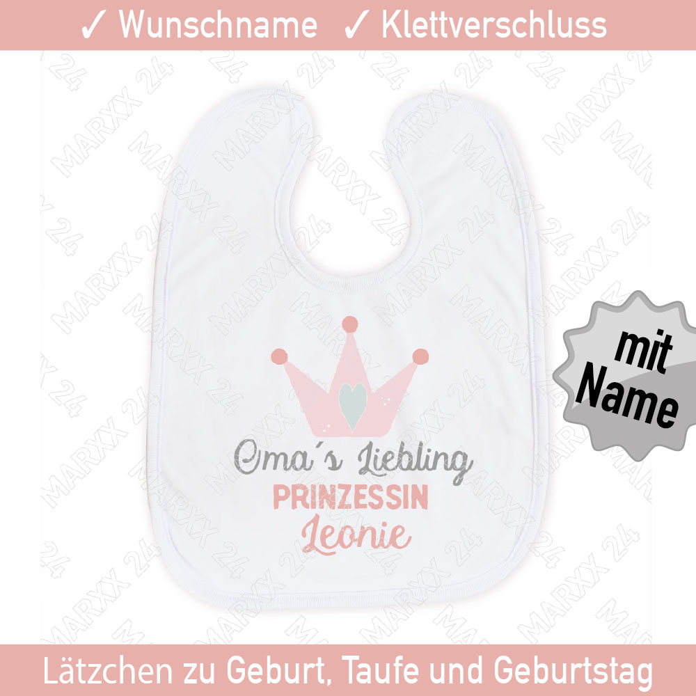 Grosseltern Geschenk Baby Lätzchen personalisiert