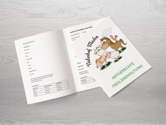 Broschüre für eine Landwirtschaft