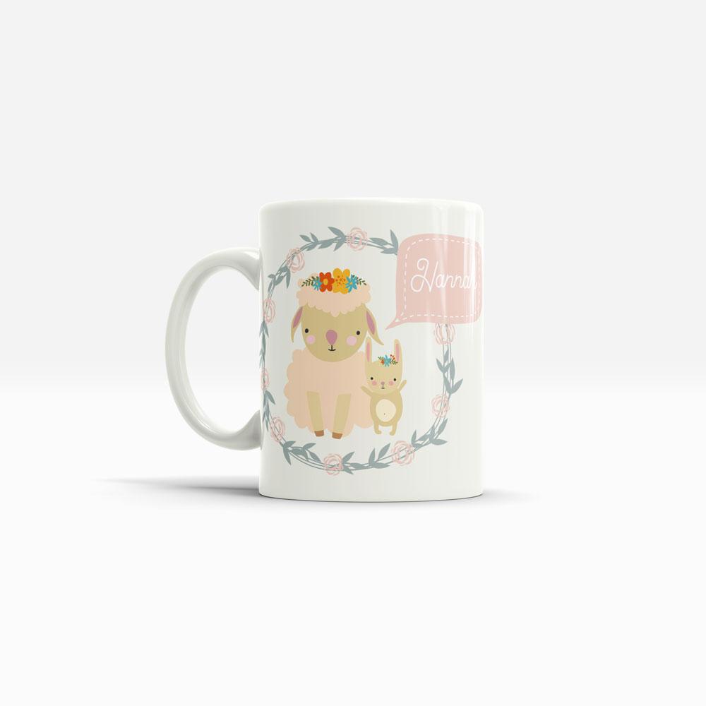 Hasen Kaffee Tasse mit Namen