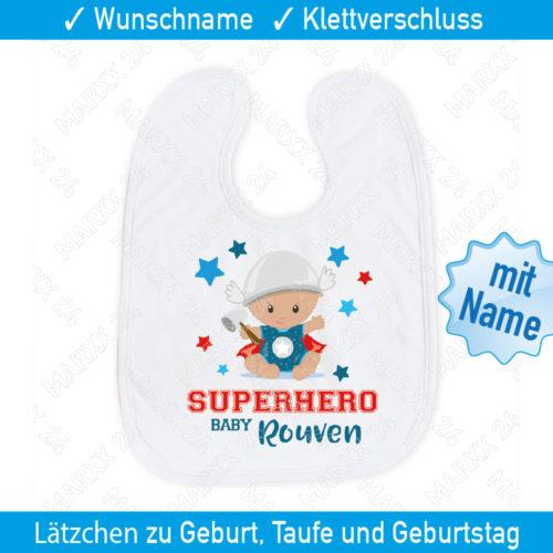 Hero Baby Lätzchen personalisiert mit Name
