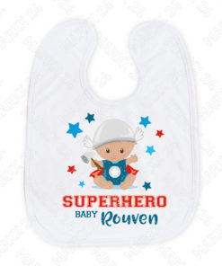 Hero Baby Lätzchen mit Name personalisiert