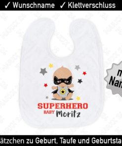 Hero Baby Lätzchen Wunschname