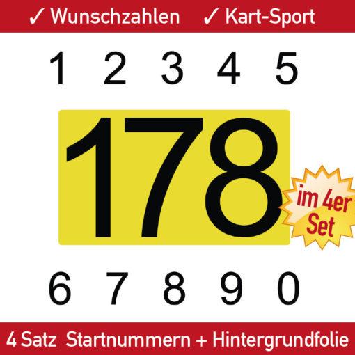 Kart Aufkleber Startnummer