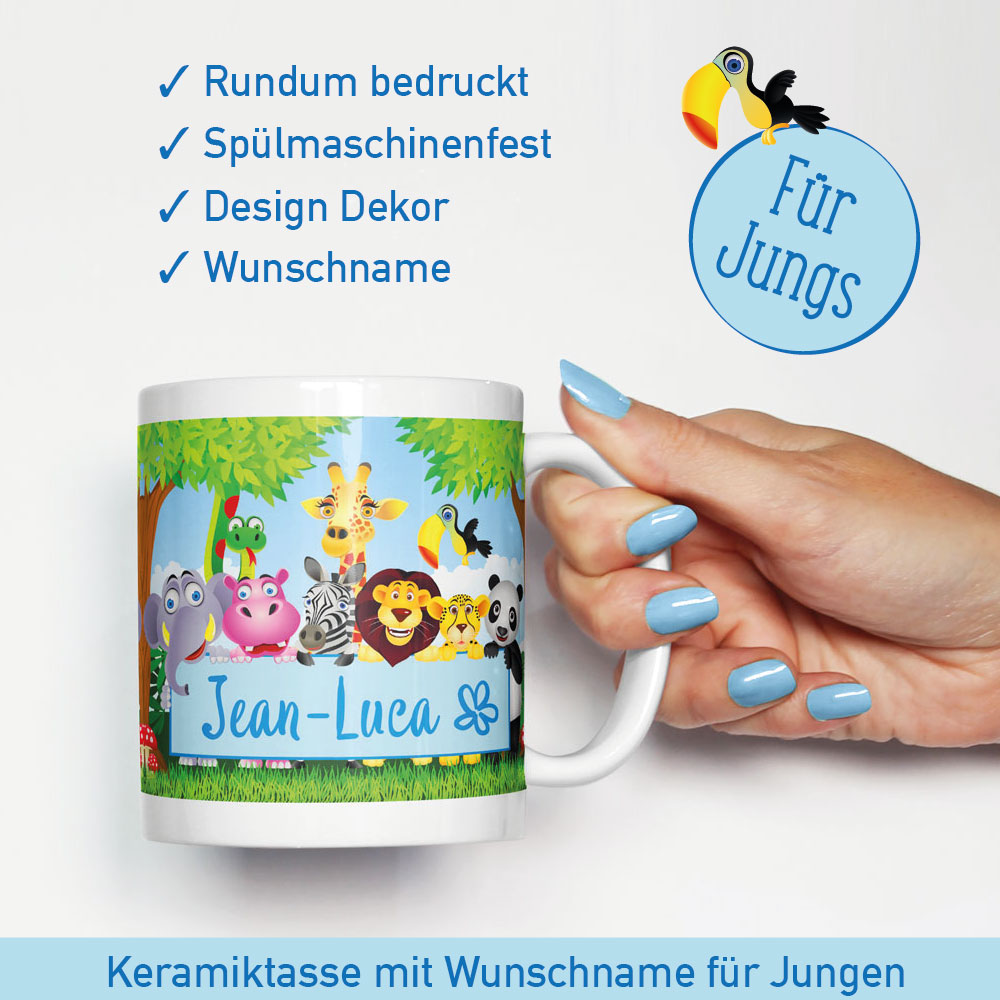 tasse mit namen kinder geburtstag kinder gutschein ideen zoobesuch. Black Bedroom Furniture Sets. Home Design Ideas