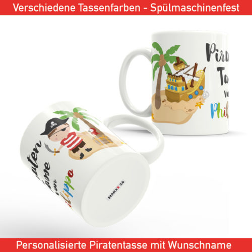 Kinder Piraten Tasse bedrucken