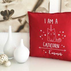 Kissen Geschenk Caticorn mit Name