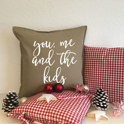Deko Kissen Weihnachten Familie für das Sofa