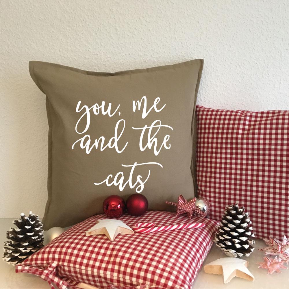 Sofa Kissen Weihnachten für Katzenliebhaber