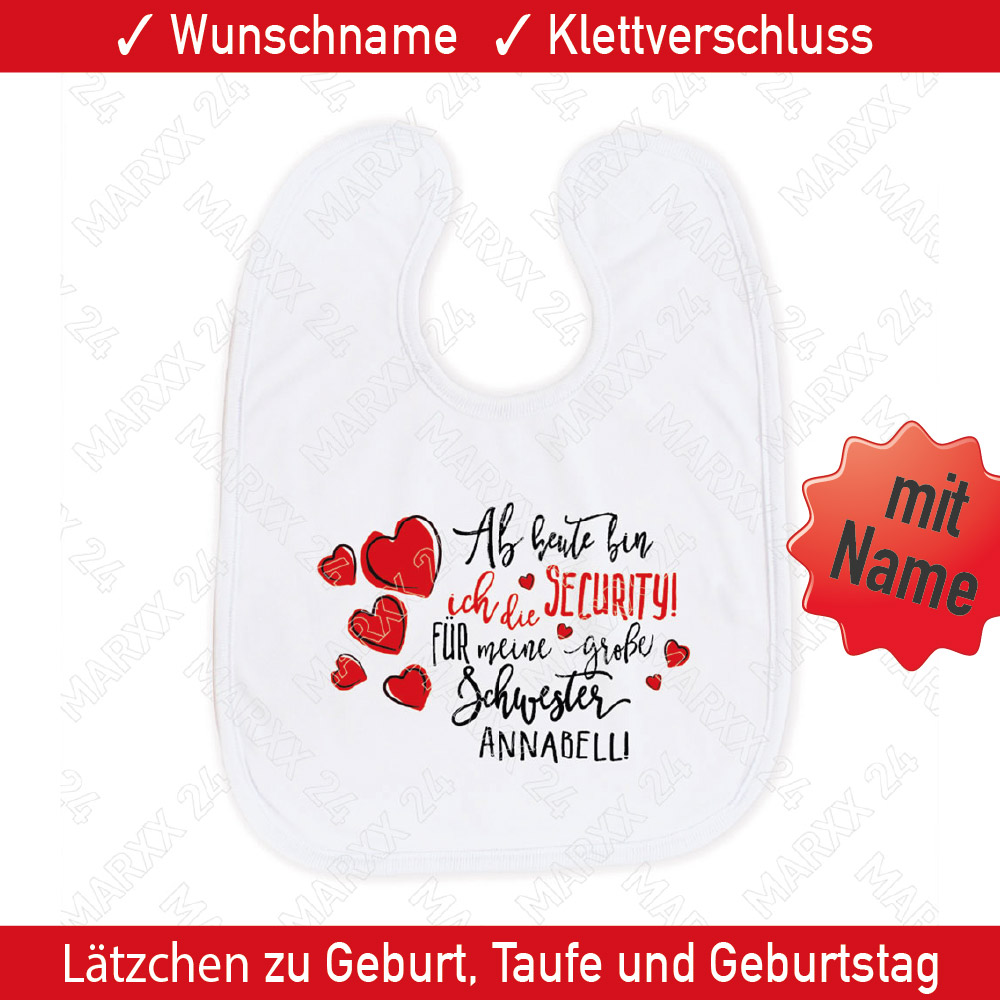 kleine schwester baby l tzchen name geschenkidee spruch. Black Bedroom Furniture Sets. Home Design Ideas