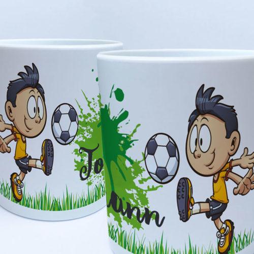 Fußball Kunststoff Tasse