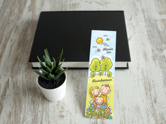 Buchlesezeichen für Kids