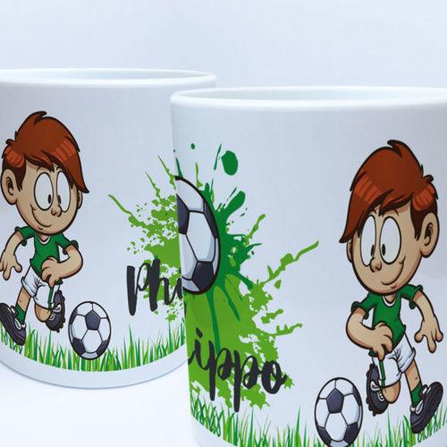 Plastik Tasse Fußball