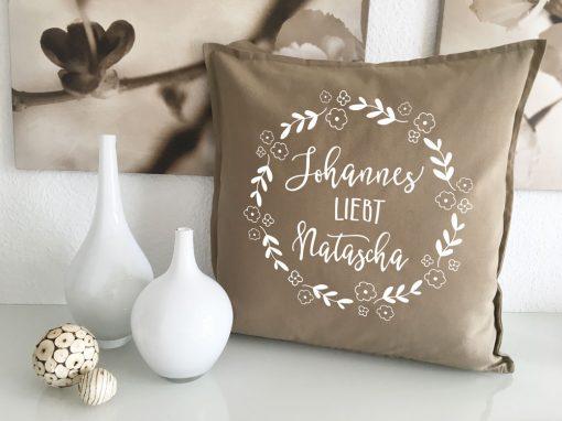 Liebesgeschenke Kissen mit Namen