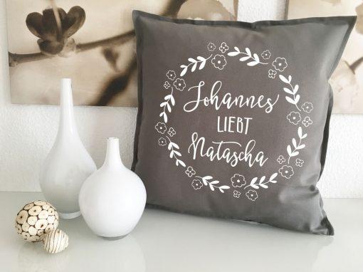 Liebespaar Kissen Geschenk