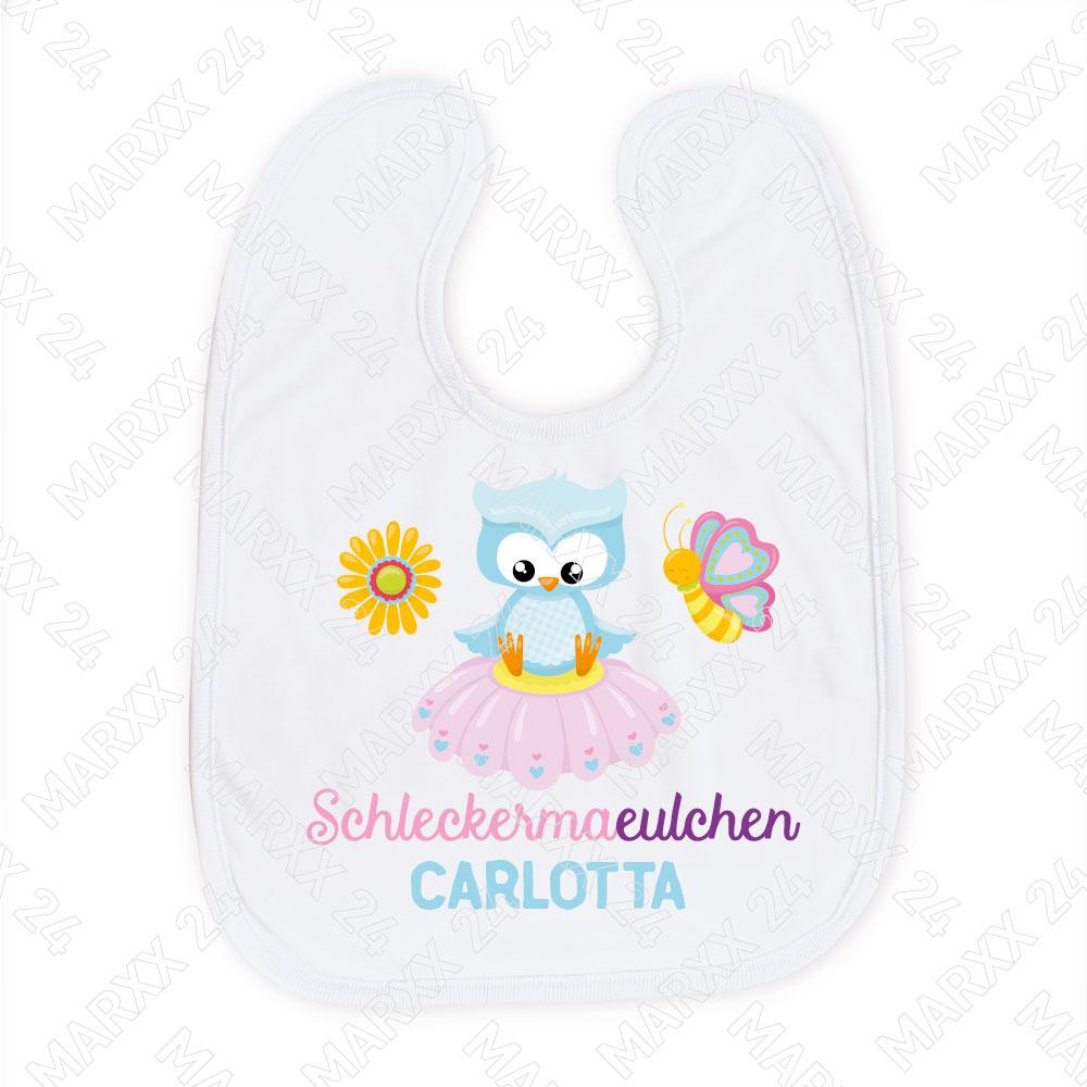 Mädchen Babylätzchen mit Wunschname