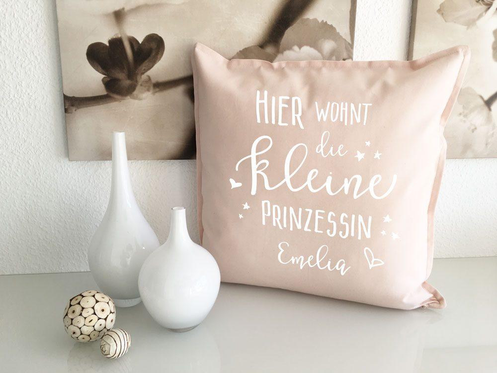 Mädchen Kuschel Kissen mit Wunschname