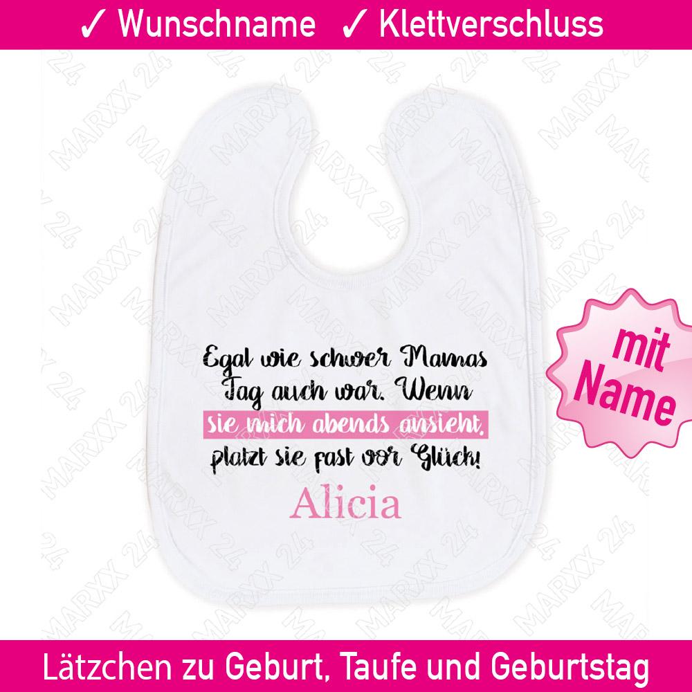 Mädchen Sprüche Lätzchen Wunschname Name Geschenk Spruch Babylätzchen