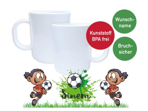 Maedchenfussball Plastiktasse