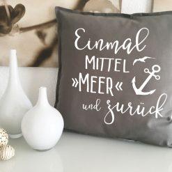 Mittelmeer Reise Geschenk Kissen
