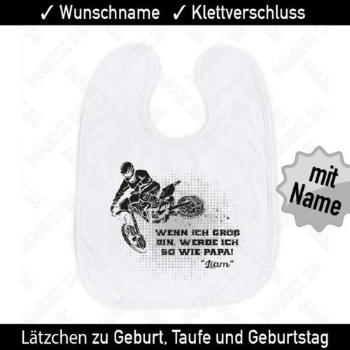 Moto x Lätzchen Wunschname