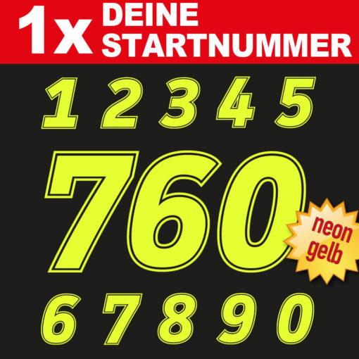 Motocross Startnummer in verschiedenen neo Farben