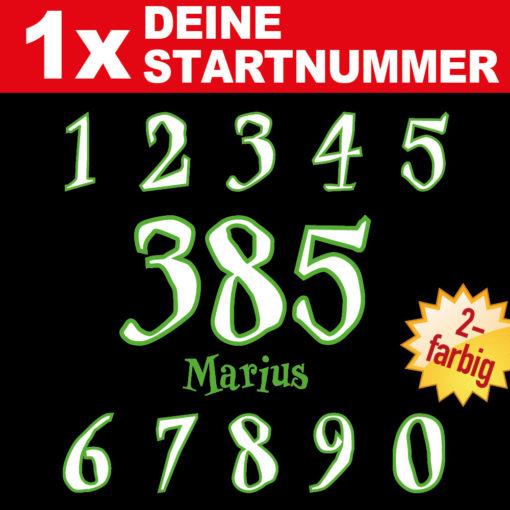 Motorrad Startnummern mit Wunsch Namen