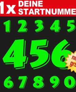 Motorrad Startnummer im neon Design