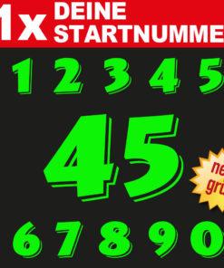Motorrad Startnummern Aufkleber fluoreszierend