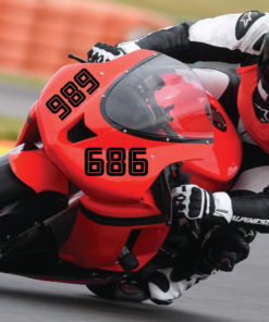 Motorrad Startnummern Set